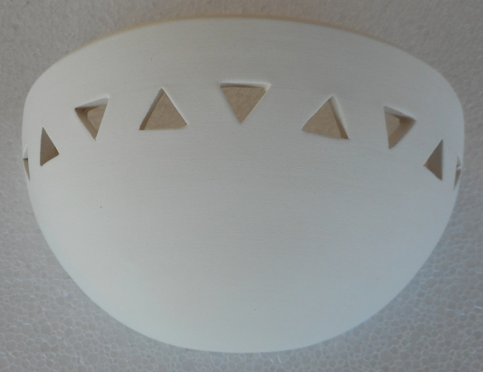 small handmade ceramic sconce 20 cm by Atelier Aicher in Tinos